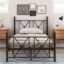 metallbett mit kopf und fußteil bett für schlafzimmer der