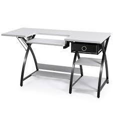 COSTWAY Wood LShape Corner Computer Desk PC Table Workstation Home Office Black