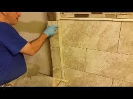 how to tile outside corner step by step shower bathroom tiling