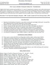 Truck Driver Resume Summary Example Expertise And Forklift Operator Sample Qualifications