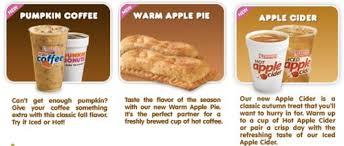 Pumpkin Spice Latte Dunkin Donuts Ingredients by Food News Dunkin U0027 Donuts Fall Flavors Menu Yum Pinterest