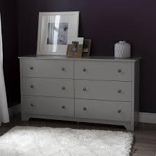 amazon com south shore vito 6 drawer double dresser soft gray