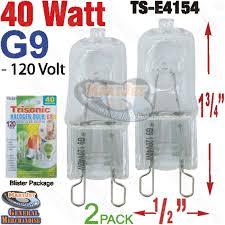 buy 2pk bi pin g9 base 40w 120v halogen bulb jcd 2 pin low