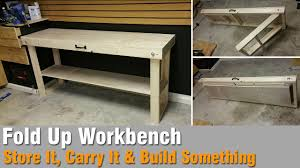 how to build a workbench out of 2x4 and plywood that folds up