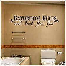 hajksds wandtattoos wandbilder badezimmer regeln tür zeichen