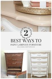 2 Best Ways To Paint Laminate Furniture Salvaged Inspirations