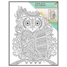 MCS 10x13 Inch Time Out Color In Frame Adult Coloring Page Owl Design
