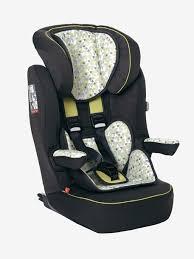 siege groupe 2 3 isofix vertbaudet kidsit isofix car seat 1 2 3 grey print