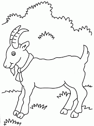 Free Cute Goat Coloring Pages