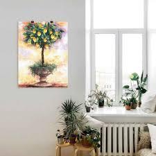 artland wandbild zitronenbaum bäume 1 stück