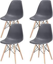 mifi 4 x esszimmerstühle 4er set esszimmerstuhl tulpe esszimmer holzbeine stuhl eiffelturm stuhl 4er set retro design stühle als küchenstuhl