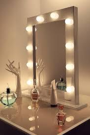 top square vanity mirror with lights adorable bedroom regard to