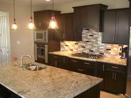 Kitchen Backsplash Ideas With Dark Wood Cabinets by Kitchen Backsplashes Kitchen Stone Backsplash Ideas With Dark