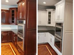 Kitchen Color Ideas With Cherry Cabinets Tips For Painting Cherry Cabinets White Dengarden