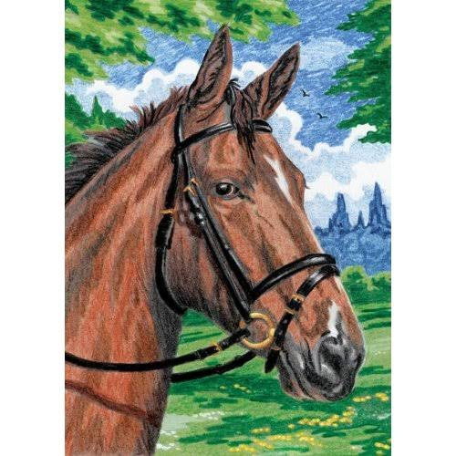 "Horse Color Pencil by Number Mini Kit - 5"" x 7"""