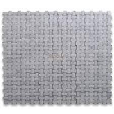 carrara marble tile italian white 1x2 basketweave mosaic w