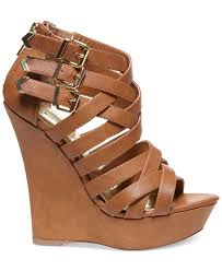 Bed Stu Juliana by Madden Faboo Strappy Platform Wedge Sandals In Brown Lyst