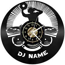 3d musik dj name schallplatte uhr kreative retro led licht