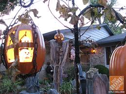Singing Pumpkins Grim Grinning Pumpkins Projector by 14 Over The Top Halloween Decorations To Terrify Trick Or Treaters
