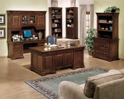 Image Of Rustic Office Furniture Set