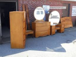 Waterfall Vanity Dresser Set by Antique Art Deco Bedroom Furniture Interior Design