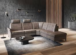 himolla ecksofa 1920 ein oder zwei integrierte relaxsitze relax funktions ecke ottomane rechts oder links mit stauraum armlehen verstellbar