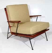 Ficks Reed Lounge Chair by Eliel Saarinen And Pipsan Swanson Saarinen Wrought Iron And