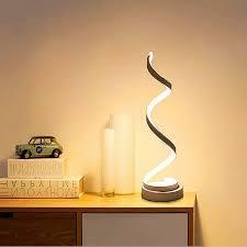 led spiral tischle gebogene led schreibtischle 12 w warmweiß licht kreative led acryl modellierungsle perfekt für schlafzimmer wohnzimmer