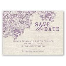 Elegant Rustic Lace Save The Date