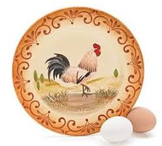 Set Of 4 French Country Rooster 8 1 2 Plates Dining And Kitchen Decor