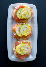 and easy canapes smoked salmon canapes with easy lemon truffle mayo salt lavender