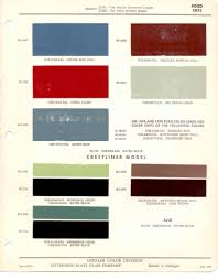 100 Ford Truck Colors Paint Chips 1951 Crestliner Chriss 51 Pinterest