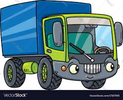 Funny Small Lorry With Eyes Royalty Free Vector Image