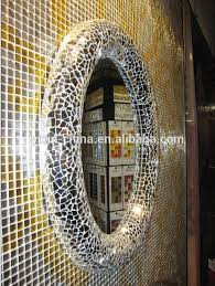 Mosaic Framed Bathroom Mirror by 2015 Round Or Oval Silver Decorative Wall Framed Glass Mosaic