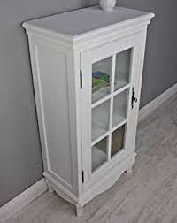 kommode schrank glastür neu weiß antik holz landhaus vitrine