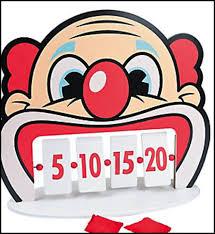 Clown Tooth Bean Bag Carnival Game 1 Set