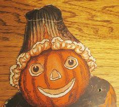 1920s Beistle Jointed Pumpkin Man Diecut
