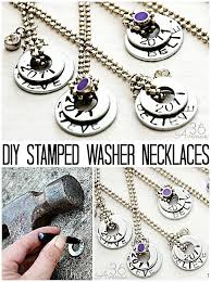 DIY Stamped Necklaces Tutorial These Washer Are Perfect For Gifts And Easy To Customized