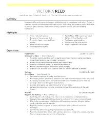 Create My Resume Server Experience Restaurant Sample Template With Civil Engineering What Waitress