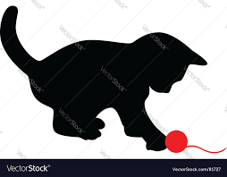 cat silhouette cat silhouette royalty free vector image vectorstock
