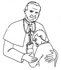 Pope John Paul II Coloring Page CatholicSAM