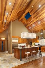 kitchens with vaulted ceilings kitchen contemporary with stainless