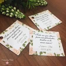 Tag Agradecimento Casamento Média