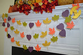 Leaf Garland Banner Fall Leaves Decoration In Love Decor