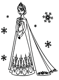 Frozen Fever Colouring Pages To Print Coloring Online Games Disney Pdf Full Size