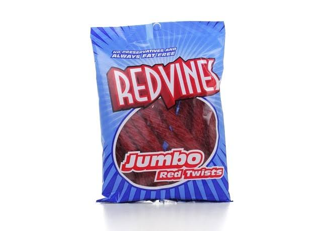 Red Vines Red Licorice Twists - Jumbo, 8oz Bag, 12pk