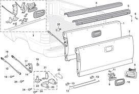 Gmc Truck Parts Diagram Tailgate Components 1999 07 Chevy Silverado ...