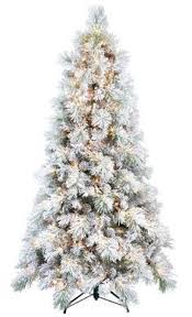 7 Ft White Flocked Tree For Sale At Walmart Canada Get Christmas Online
