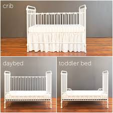 baby crib distressed white