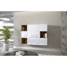 nola 12 wohnwand hängeschränke braun weiß schwarz hochglanz 134 cm